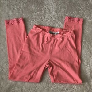 jumping beans girls 6x pink leggings with lace trim