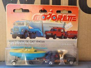 MAJORETTE VINTAGE 300 SERIES - VW GOLF AND BOAT SET CARS MINT US CARD GOOD VHTF