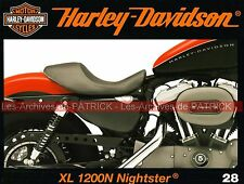 HARLEY DAVIDSON XL 1200 N Nightster 100 ans Willie G. DAVIDSON la passion MOTO