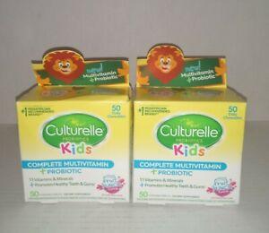 Set of 2: Culturelle Kids Multivitamin, Complete, + Probiotic 50 Chewables each