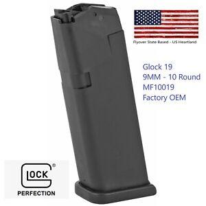 Glock 19 Magazine 9MM 10 Round Clip MF10019  Gen 4 Factory Mag Fast Shipping