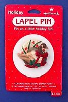 Hallmark PIN Christmas Vintage WREATH Mallard DUCK Holiday Brooch NEW