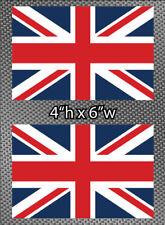 """2x United Kingdom Flag 6"""" Sticker Vinyl Union Jack British Die Cut Decals UK"""