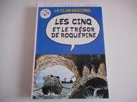 BIBLIOTHEQUE ROSE - LES CINQ ET LE TRESOR DE ROQUEPINE / ENID BLYTON 1979