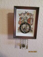 New listing Vintage Hummel Ars sacra # 9635 Miniature Wall Clock With Key & Pendulum Works