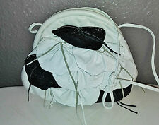 Vintage 7 Seven Handbags by Dimitri bag Clutch Bag Black White Leather Snakeskin