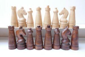 VINTAGE JEU D'ECHECS CHESS SET art populaire France 1930/1940
