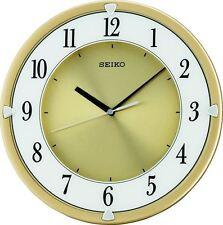 Reloj De Pared Seiko redondo plástico caso carácter numérico en Silencio Silencioso Barrer QXA621G