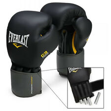 Everlast C3 Pro Weighted Leather Heavy Boxing Bag Training Gloves Punch Mitts