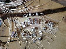 Dreadlock Beads and Spiral Coils 12 x 5-7mm Hole Silver Theme Dreads Handmade UK