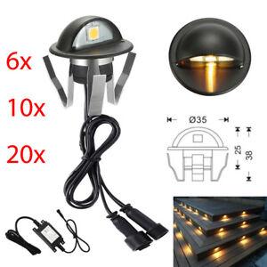 6-30Pc Decking Lights 35mm LED Kitchen Recessed Garden Deck Plinth Step Path Lam