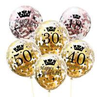 Ballon Décoratif De Confettis De Latex De Couronne D'anniversaire Transparent DA