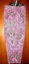 Women Vintage Briggs Ny Pink Paisley Floral Print Fun Capri Cropped Pants Sz 10