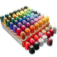 Polyester Embroidery Machine Thread Set - 64 Spools 1000 Meters Each