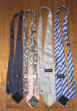 Silk Tie X 4 Versace Classic, Pierre Cardin, Country Road, Fendi Made In Italy