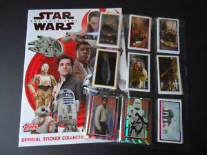 TOPPS JOURNEY TO STAR WARS THE LAST JEDI COMPLETE 200 STICKER SET+ ALBUM