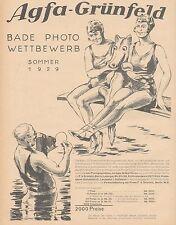 J1487 AGFA Grunfeld - Illustrazione - Pubblicità grande formato - 1929 Old ad