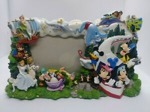 Disney 3D CHARACTERS  PHOTO FRAME Mickey Minnie Goofy Peter Pan Alice Vintage