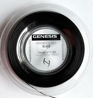 GENESIS SYNTHETIC GUT 660' Reel 16 (Black) Tennis Racket String