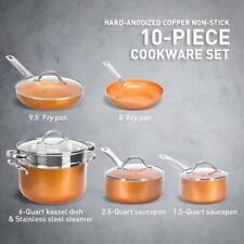 Shineuri 10-Piece Nonstick Frying Pan and Cookware Set – COPPER!
