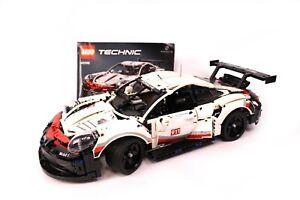Lego Technic 42096 Porsche 911 RSR mit Bauanleitung fertig gebaut guter Zustand