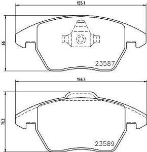 Hella Pagid Front Brake Pads fits Audi A1 8X1, 8XK 1.4 TFSI