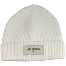 02c7b7e1ebc True Religion Ribbed Knit Watchcap Hat (One Size Fits Most)