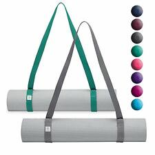 Gaiam Easy Cinch Yoga Mat Sling Hands Free Mat Carrier Any Size Yoga Mat GREY