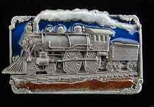 HIGHLY DETAILED STEAM TRAIN PEWTER BELT BUCKLE NEW !