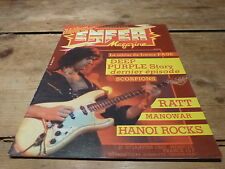 DEEP PURPLE - SCORPIONS - RATT - MANOWAR - Enfer magazine N°20 de 1985