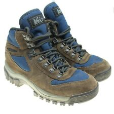 MERRELL for REI Monarch IV Brown Blue Suede Hiking Camping Boots Youth Size 5
