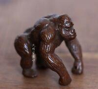 Old Antique Tea Pet Pure Solid Copper King Kong Orangutan Handwork Statue