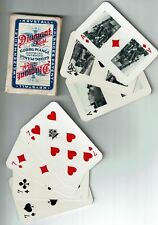 Kartenspiel 32 Blatt Diamant-Mehl Georg Plange Hamburg Reklame Krystall