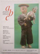 ABC décor N°186 1980 /poupées/Pécrus:peintre/boite peinte/faïences de Vaudrevage