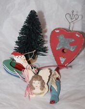 Midwest of Cannon Falls Angel Heart Santa Christmas Tree Ornaments Lot of 5