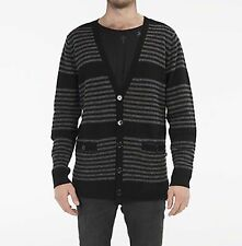 60% OFF! - Lee Cardigan Black Grey Striped Size XL NWT Orig Price $119.95