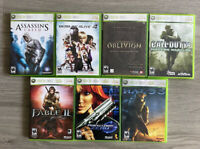 Xbox 360 Lot Of 7 Games Oblivion Fable Assasins Creed Halo