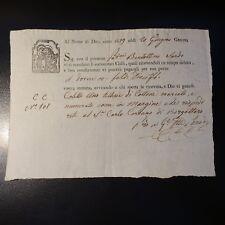 1819 ITALIE LETTRE DE VOITURE DE ROULAGE TRANSPORT DE MARCHANDISE / GÈNES