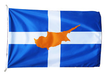 More details for greece cyprus friendship flag 100cm x 150cm correct 2:3 ratio