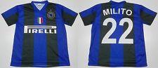MONDO REPLICA INTER F.C. MAGLIA 2009 2010 1^ HOME TG. 10 ANNI  22 MILITO