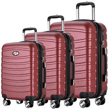 REISEKOFFER 3tlg. TROLLEY 360° KOFFER SET KOFFERSET BEAUTY CASE Bordo