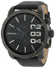 Diesel DZ4216 Black Leather Chronograph Wrist Watch for Men
