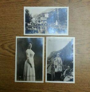 Pullen House Skagway Alaska RPPC Postcard w/ 2 of Harriet Pullen herself! ca1920