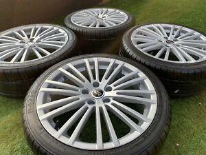 """18"""" VW Golf R32 Style Alloy wheels & Tyres 5x112 MK5 MK6 GTi Caddy £"""