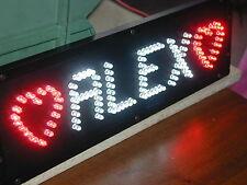 SCRITTA LUMINOSA per CAMION a LED TARGA PERSONALIZZATA + simboli a 12/24 V 5 cm