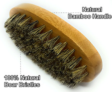 Greenity Natural Bamboo Handle Anti Static Beard and Mustache Oval Brush for Men