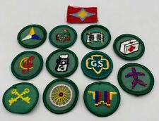 Girl Scout Patch Badge Vintage Lot Of 12 Cloth Embroidered 20-316