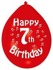 10pk Colori Assortiti Lattice Felice 7th Compleanno Palloncino 22cm