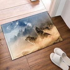 Kitchen Bath Bathroom Shower Floor Home Door Mat Rug Non-Slip Wolf Totem 40*60cm