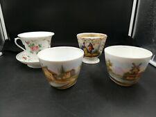 Lot De Tasses En Porcelaine De Paris, Anciennes. A Restaurer